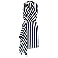 Buy Oasis Stripe Cowl Belted Dress, Multi Online at johnlewis.com
