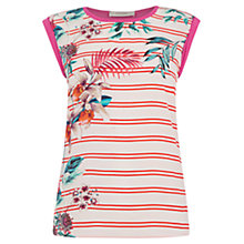 Buy Oasis Malay Summer Place Top, Off White Online at johnlewis.com