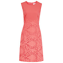 Buy Reiss Lace Fit and Flare Dress, Rosebud Online at johnlewis.com