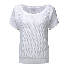 Buy Pure Collection Nyla Linen Textured Jumper, White Online at johnlewis.com