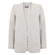 Buy Mint Velvet Collarless Boyfriend Blazer, White Chalk Online at johnlewis.com