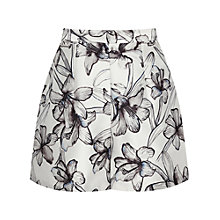 Buy Reiss Caggie Printed Shorts, Off White/Black Online at johnlewis.com