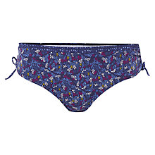 Buy White Stuff Floral Shell Bikini Bottom, Wash Blue Online at johnlewis.com