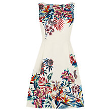 Buy Oasis Tropical House Jacquard Dress, Off White Online at johnlewis.com