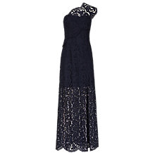 Buy Reiss Pansey Lace Maxi Dress, Night Navy Online at johnlewis.com