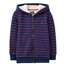 Buy Joules Boys' Guthrie Stripe Hoodie, Navy/Red Online at johnlewis.com