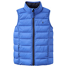 Buy Joules Boys' Crofton Pack Away Padded Gilet, Blue Online at johnlewis.com