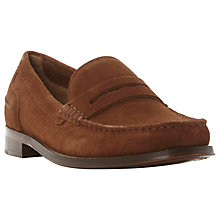 Buy Bertie Randsom Suede Penny Saddle Loafers, Tan Online at johnlewis.com