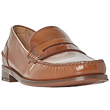Buy Bertie Randsom Leather Penny Saddle Loafers, Tan Online at johnlewis.com