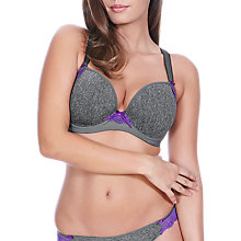 Buy Freya Deco Delight Moulded Plunge Bra, Charcoal Online at johnlewis.com
