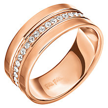 Buy Folli Follie Touch Crystal Ring, Rose Gold Online at johnlewis.com
