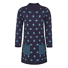 Buy John Lewis Girls' Knitted Dress, Navy Online at johnlewis.com
