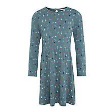 Buy John Lewis Girls' Feather Print Dress, Hydro Online at johnlewis.com