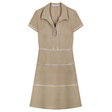 Buy Gerard Darel Trim Robe Dress, Beige Online at johnlewis.com