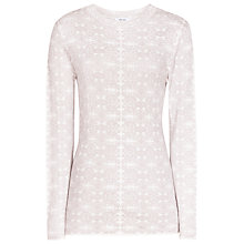 Buy Reiss Alessa Textured Jumper, White/Silver Online at johnlewis.com