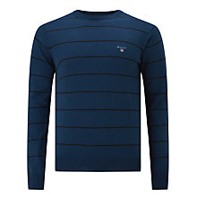 Buy Gant Cotton Wool Breton V-Neck Jumper Online at johnlewis.com