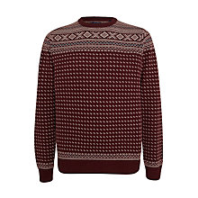Buy Gant Fairisle Knitwear, Bordeaux Melange Online at johnlewis.com