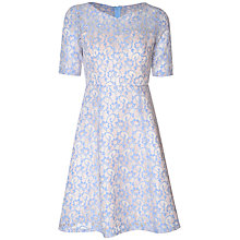 Buy True Decadence Sweetheart Lace Skater Dress, Blue/White Online at johnlewis.com