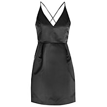 Buy True Decadence Plunge Skater Dress, Black Online at johnlewis.com