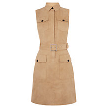 Buy Karen Millen Faux Suede Safari Dress, Camel Online at johnlewis.com