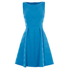 Buy Karen Millen Textured Striped Dress, Blue Online at johnlewis.com