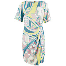 Buy Closet Retro Print Wrap Skirt Dress, Multi Online at johnlewis.com