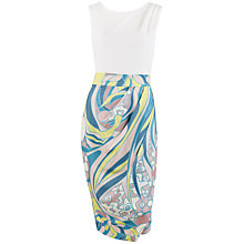 Buy Closet Floral Drape Skirt Dress, Multi Online at johnlewis.com