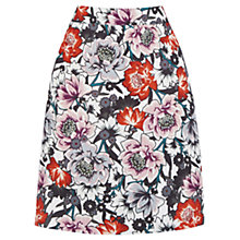 Buy Warehouse Floral Print Pelmet Skirt, Multi Online at johnlewis.com