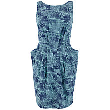 Buy Closet Line Print Scoop Back Dress, Mint Online at johnlewis.com