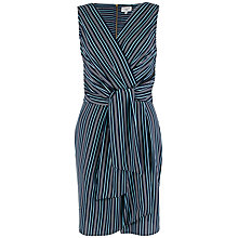 Buy Closet Stripe Print Cross Over Dress, Navy Online at johnlewis.com