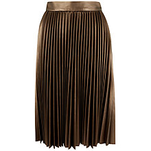 Buy Closet Pleat Midi Skirt, Bronze Online at johnlewis.com