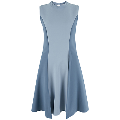 Closet A-line Panel Dress, Blue
