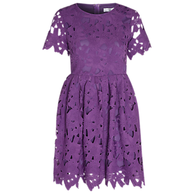 True Decadence Crochet Lace Skater Dress, Grape