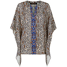 Buy Jaeger Paisley Print Kaftan Top, Multi Online at johnlewis.com