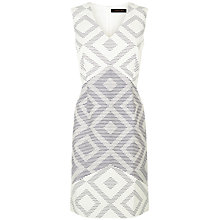 Buy Jaeger Diamond Jacquard Dress, Ivory Online at johnlewis.com
