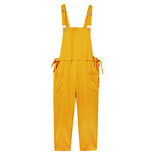 Buy Violeta by Mango Flowy Long Jumpsuit, Medium Yellow Online at johnlewis.com