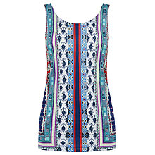 Buy Warehouse Aztec Print Vest Top, Multi Online at johnlewis.com