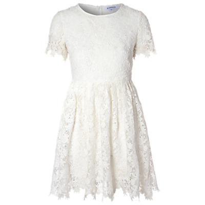 True Decadence Crochet Lace Skater Dress, White