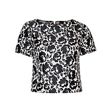 Buy True Decadence Flower Brocade Top, Pink/Black Online at johnlewis.com