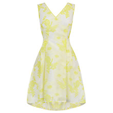 Buy Coast Pippa May Jacquard Floral Dress, Yellow Online at johnlewis.com