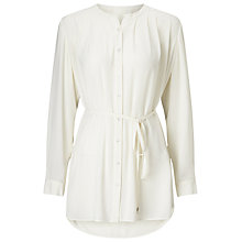 Buy Jacques Vert Oversized Pleat Detail Shirt, Light Neutral Online at johnlewis.com