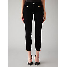 Buy J Brand Iselin Corduroy Zip Skinny Jeans, Black Online at johnlewis.com