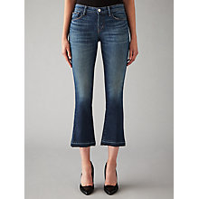 Buy J Brand Selena Mid Rise Cropped Bootcut Jeans, Undertow Online at johnlewis.com