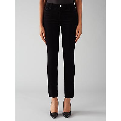 J Brand 811 Mid Rise Skinny Leg Corduroy Jeans, Black