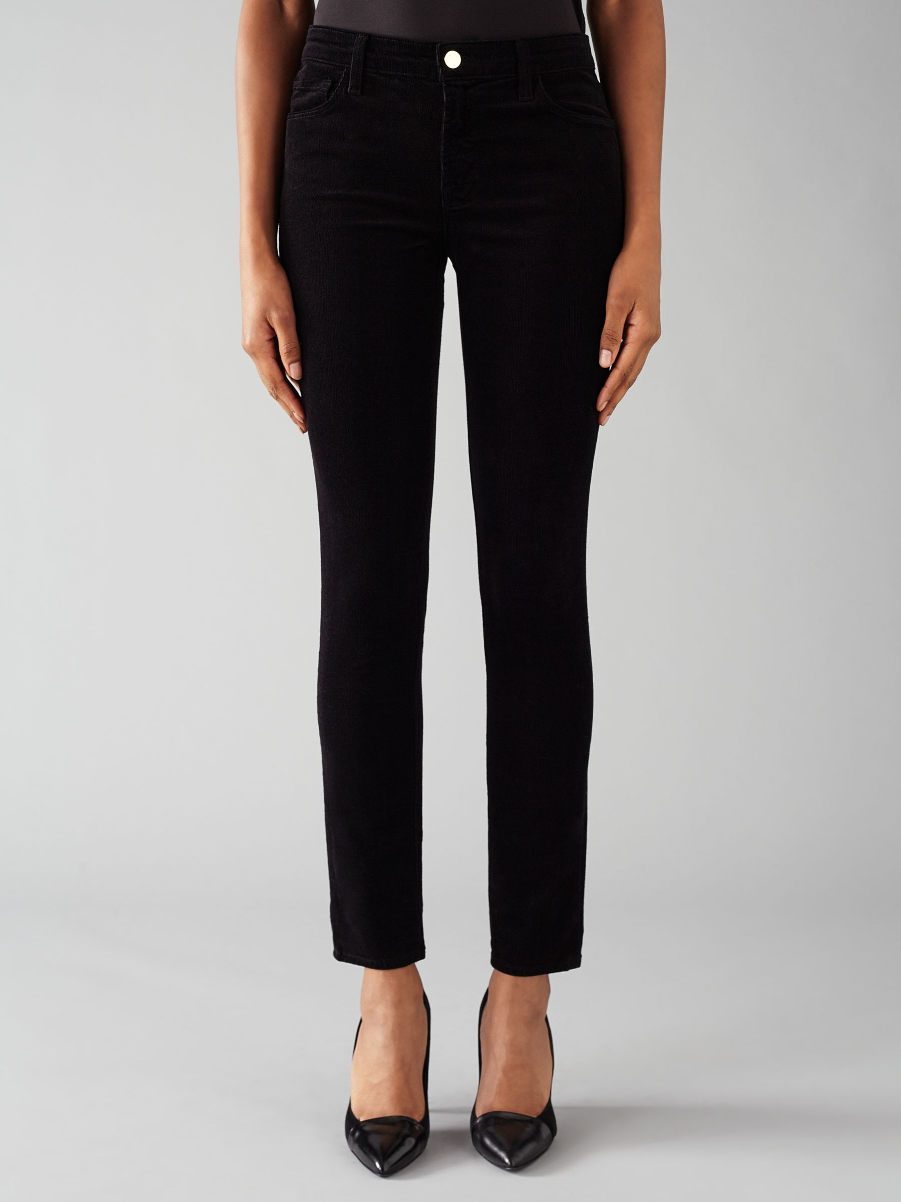 J Brand J Brand 811 Mid Rise Skinny Leg Corduroy Jeans, Black