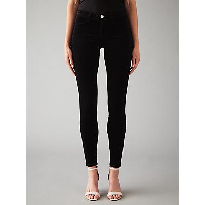 J Brand 815 Mid Rise Super Skinny Velvet Jeans, Black