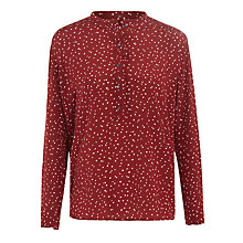 Buy Hartford Hugolin Spot Blouse, Red Online at johnlewis.com
