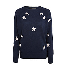 Buy 360 Sweater Stella Star Cashmere Jumper, Navy/Rose Online at johnlewis.com