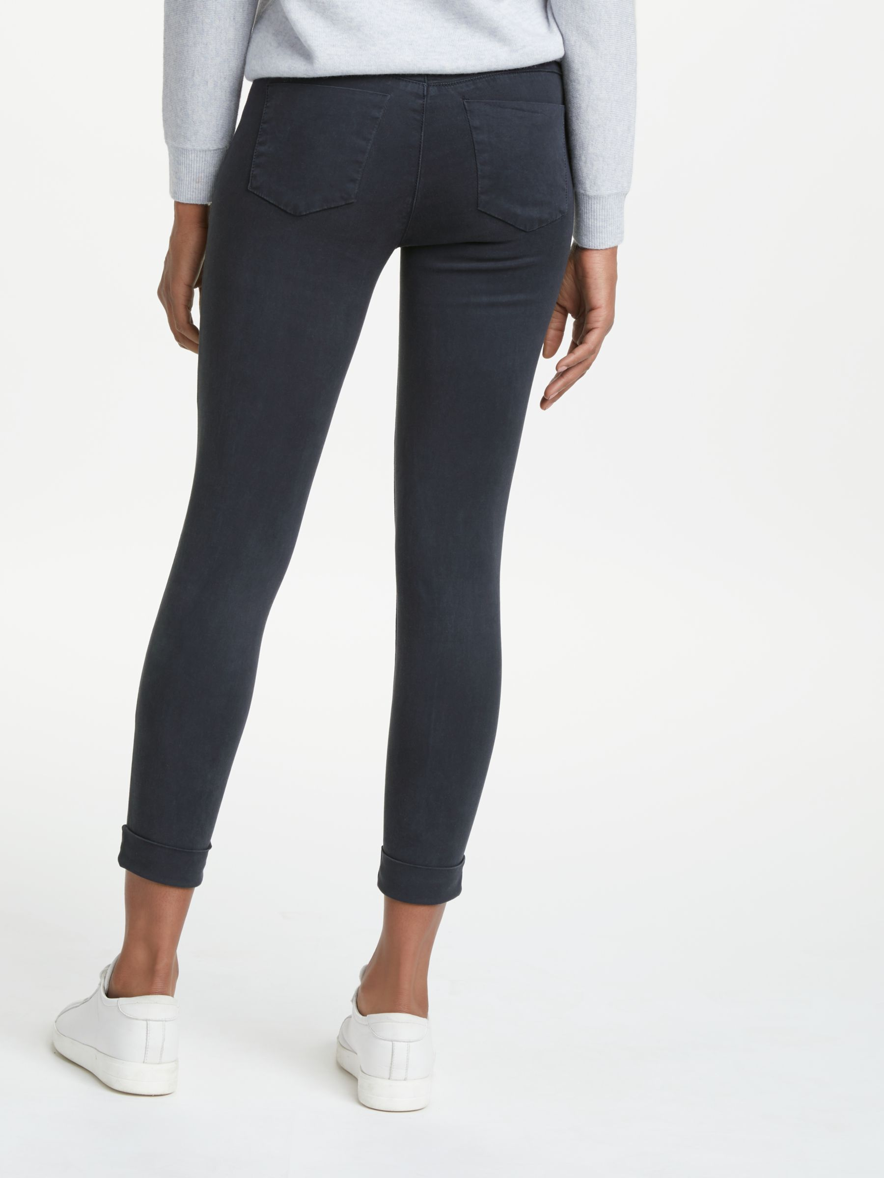 J Brand J Brand Anja Luxe Sateen Skinny Jeans, Dark Navy
