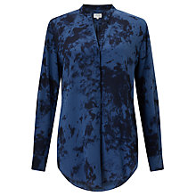Buy Hartford Colonne Silk Blouse, Blue Online at johnlewis.com